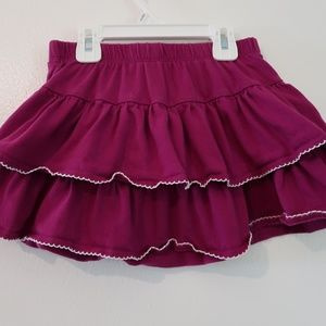 Grape two-tiered Gymboree skirt with shorts